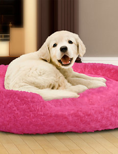 PAW Medium Cuddle Round Plush Pet Bed