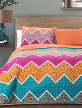 Lush Décor Everlyn Chevron Collection Quilt Set