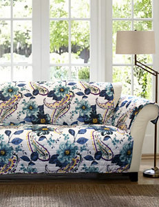Lush Décor Floral Paisley Collection Blue Furniture Protectors