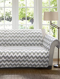 Lush Décor Chevron Collection Gray & White Furniture Protectors