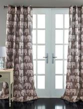 Lush Décor Elephant Parade Collection Window Panel Pair