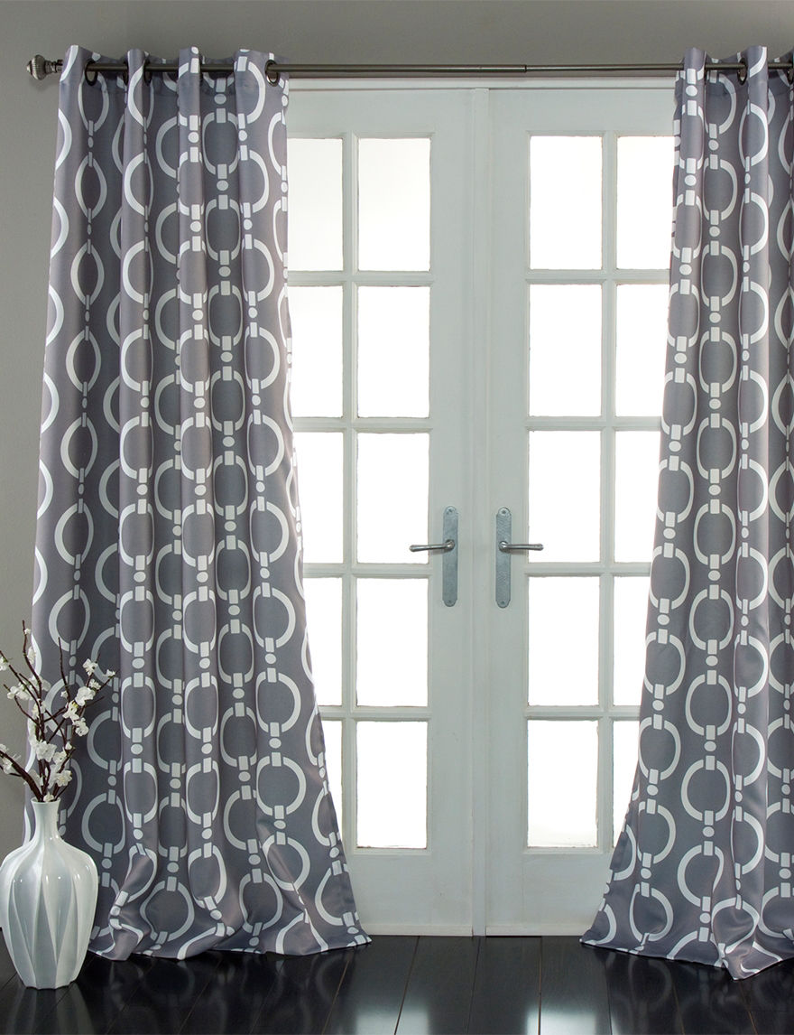 Ever Dark Grey Curtains & Drapes Window Treatments