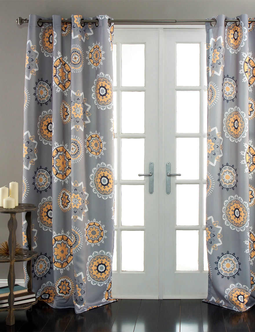 Ever Dark Tangerine Curtains & Drapes Window Treatments