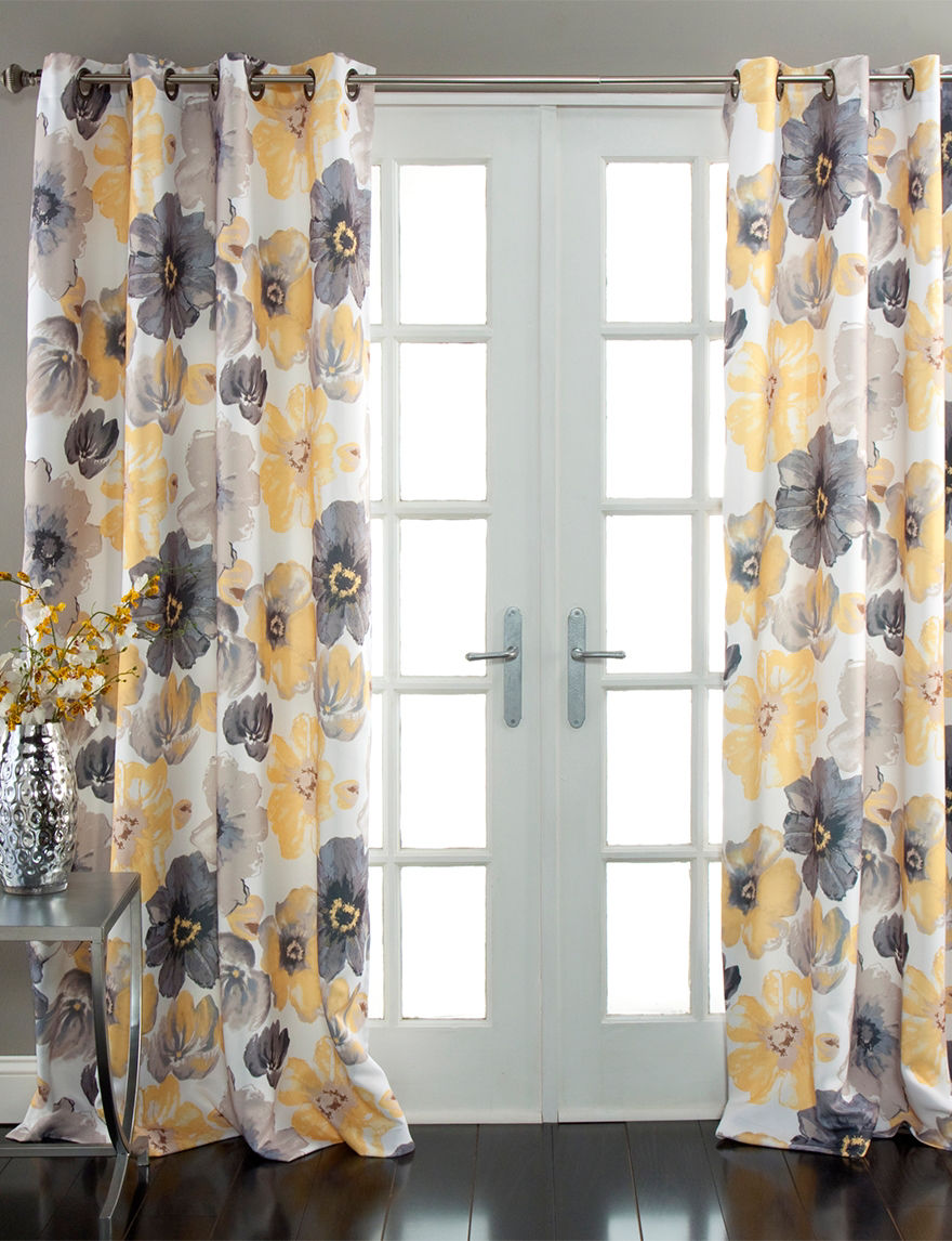 Ever Dark Yellow Curtains & Drapes Window Treatments