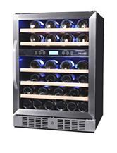 NewAir 46 Bottle Dual Zone Built-In Compressor Wine Cooler