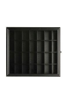 Pinnacle Black Storage Shelves Wall Decor