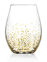 Fitz and Floyd Gold Luster 4-pc. Stemless Glass Set