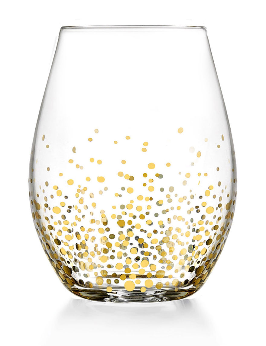 Fitz and Floyd Gold Wine Glasses