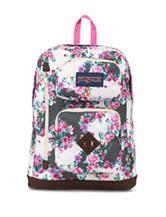 JanSport Grey Floral Austin Backpack