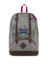 JanSport Grey Sprinkled Floral Cortlandt Backpack