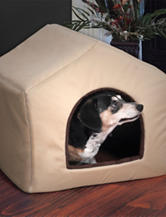 PAW 2-in-1 Tan Dog House Pet Bed
