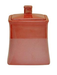 Jessica Simpson Coral Trays & Jars Bath Accessories