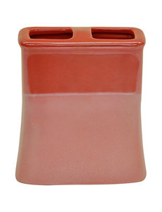 Jessica Simpson Kensley Coral Color Block Toothbrush Holder