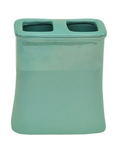 Jessica Simpson Kensley Green Color Block Toothbrush Holder
