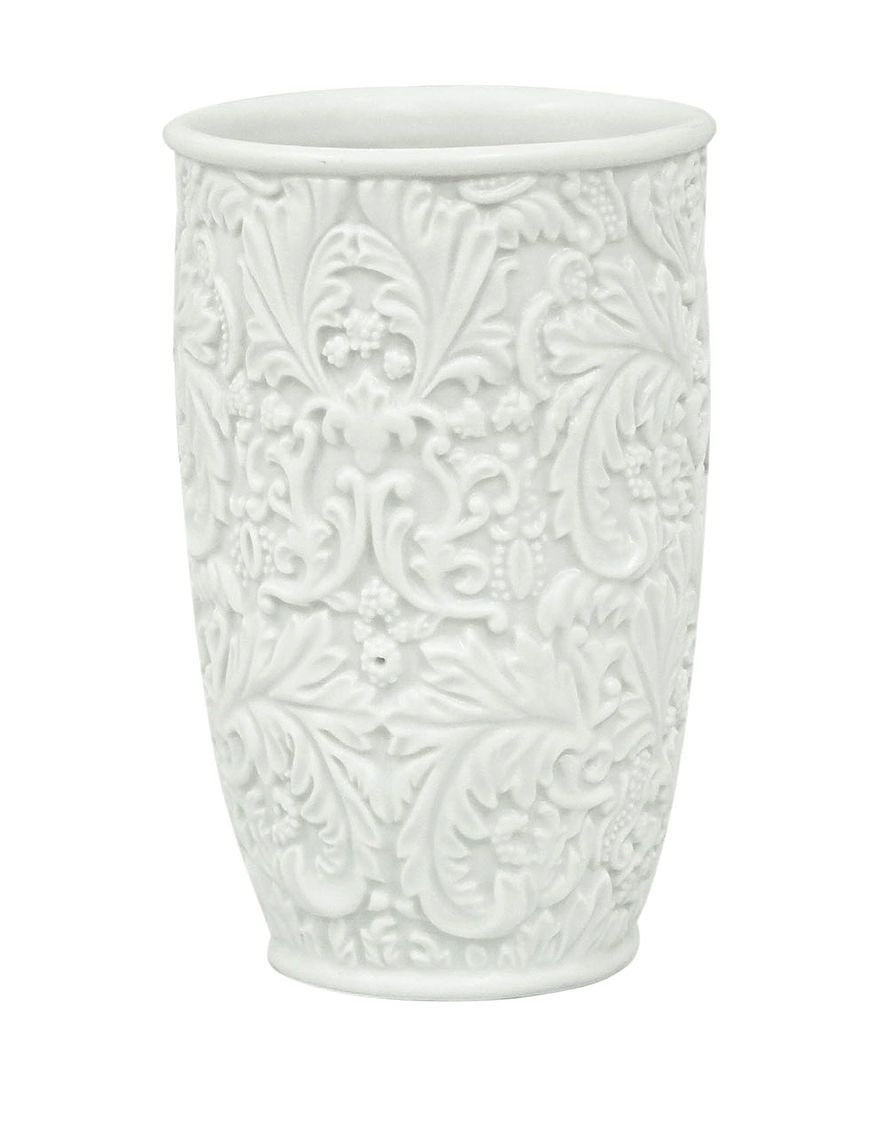 Jessica Simpson White Tumblers Bath Accessories