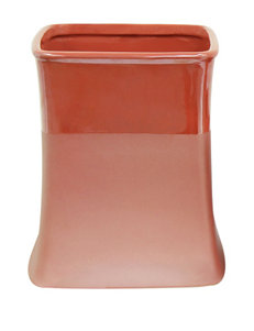 Jessica Simpson Kensley Coral Color Block Wastebasket