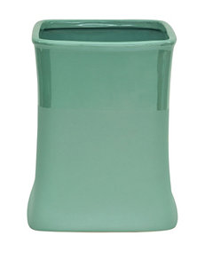Jessica Simpson Kensley Green Color Block Wastebasket
