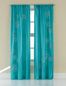 CHF & You Teal Curtains & Drapes