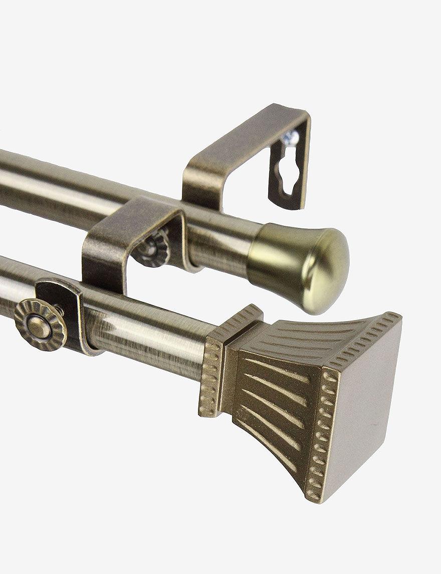 Rod Desyne Gold Curtain Rods & Hardware Window Treatments