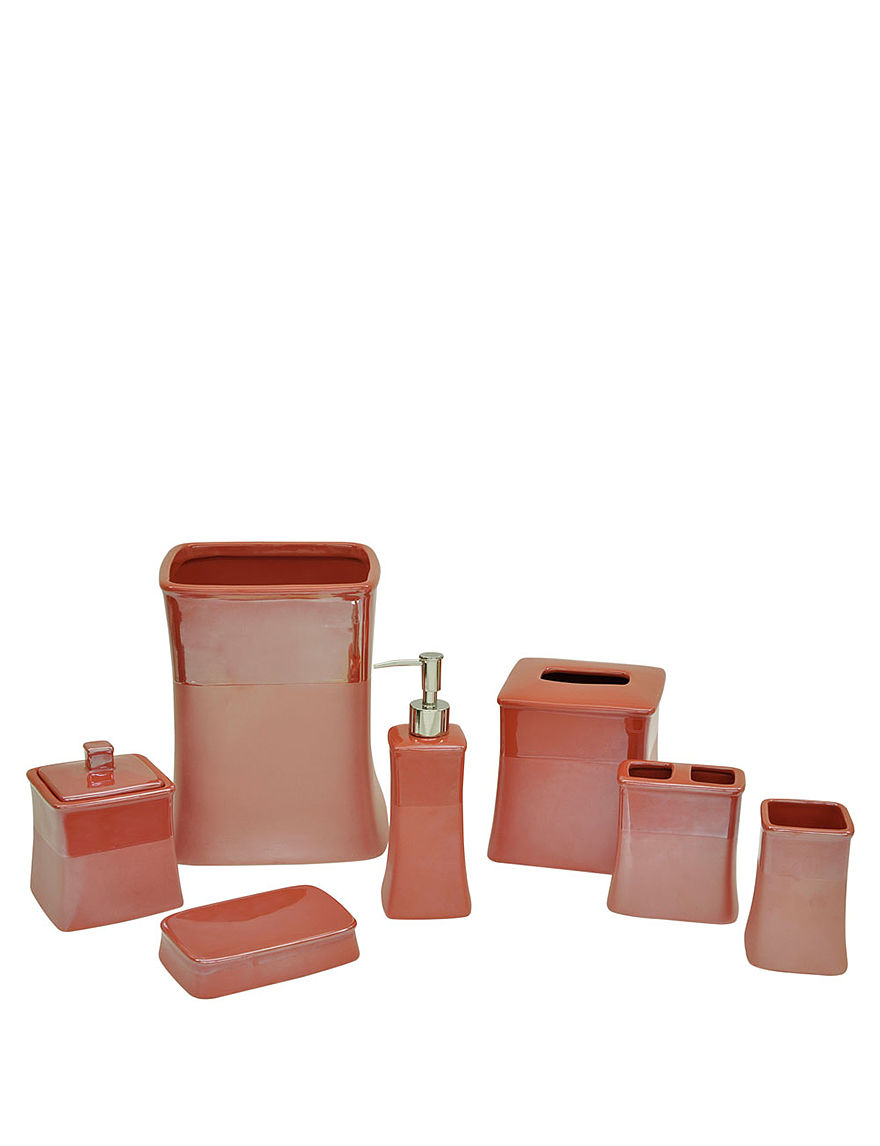 Jessica simpson spiced coral kensley bath accessories for Bathroom accessories collection