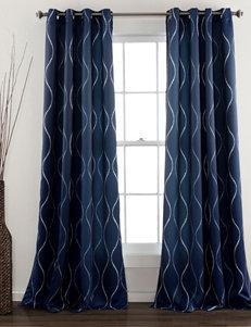 Ever Dark Navy Curtains & Drapes Window Treatments