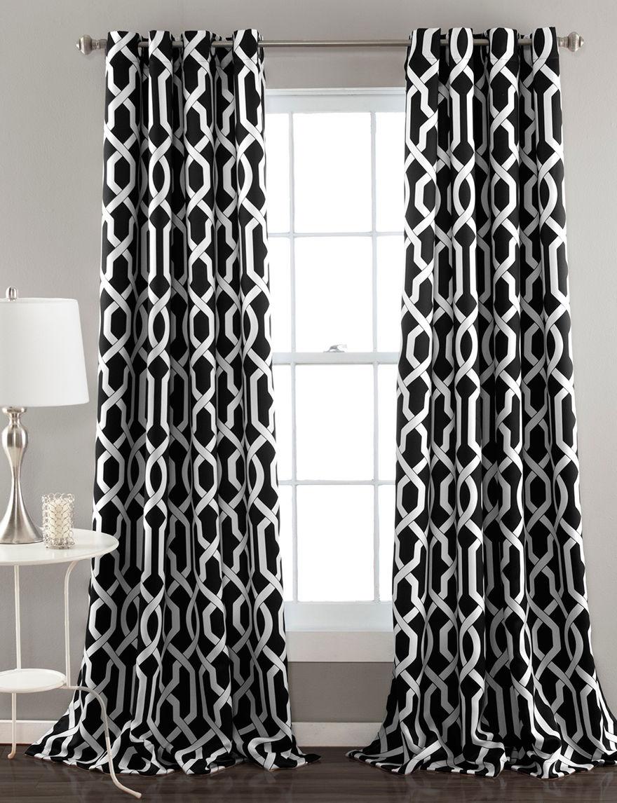 Ever Dark Black Curtains & Drapes Window Treatments