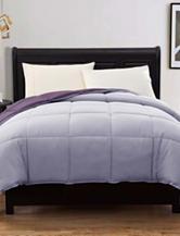 Caribbean Joe Down Alternative Reversible Purple  Twin Comforter