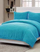 Victoria Classics 2-pc. Rose Fur Blue Comforter Mini Set