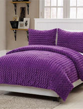 Victoria Classics 3-pc. Rose Fur Purple Comforter Mini Set