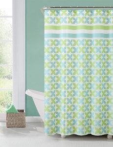 Victoria Classics Green Shower Curtains & Hooks