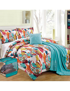 Compass Water Color Paisley Print Comforter Set