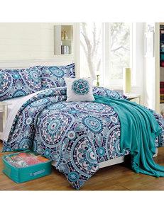 Compass Aqua Comforters & Comforter Sets