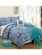 Compass Emblem Medallion Print Bedroom Set
