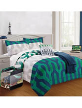 Compass Key Link Arrow Print Comforter Set