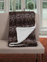 Lavish Home Mink Print Fleece Sherpa Backing Blanket