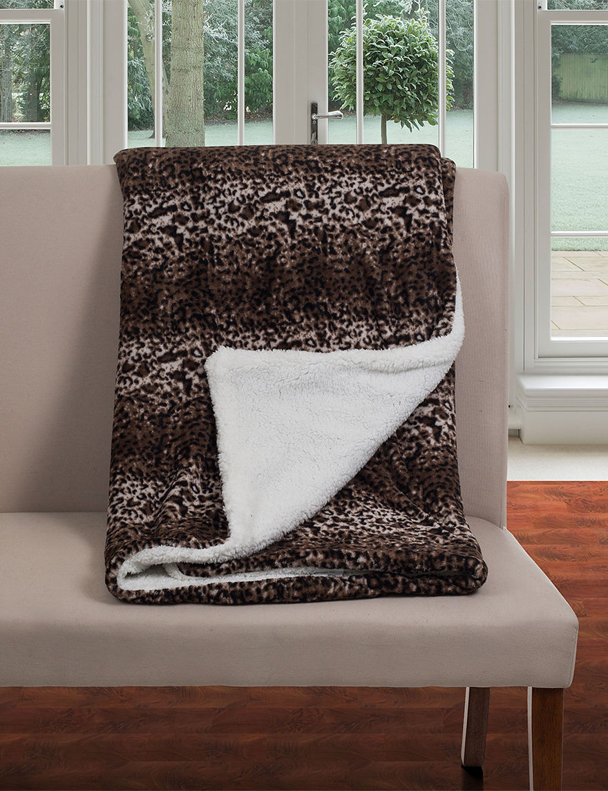 Lavish Home Brown Blankets & Throws