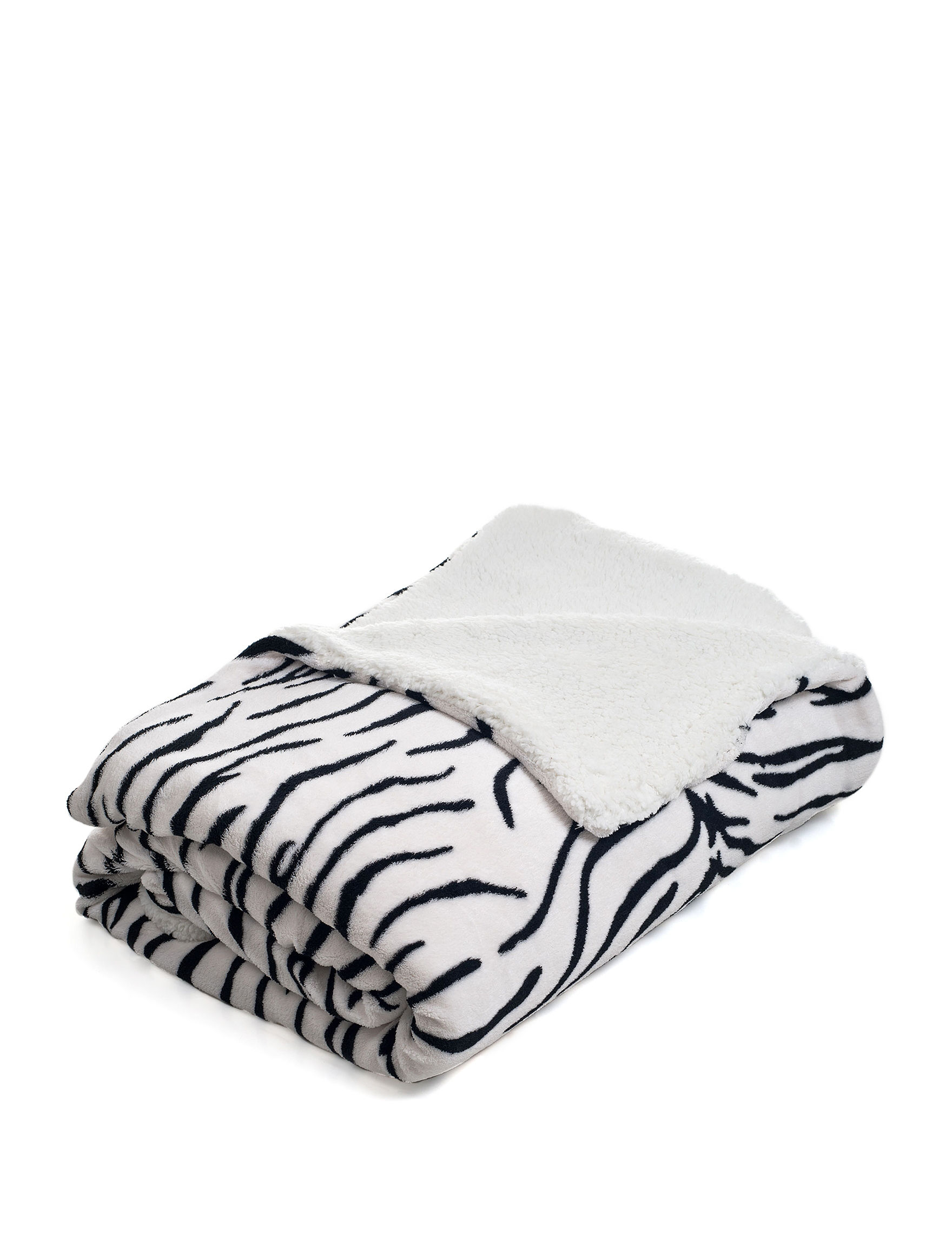 Lavish Home Zebra Blankets & Throws