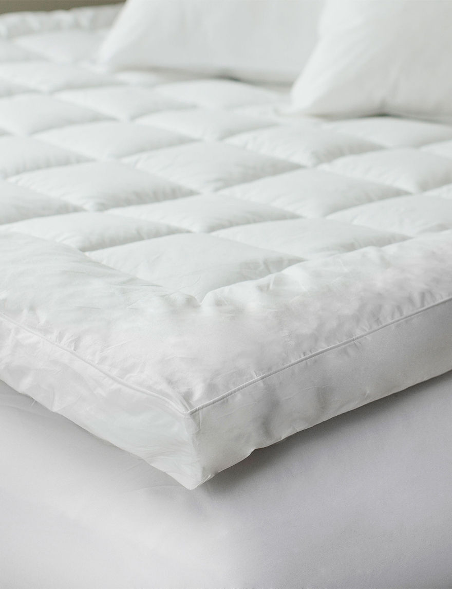 Lavish Home White Mattresses Mattress Pads & Toppers