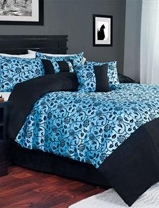 Lavish Home Blue / Black Comforters & Comforter Sets