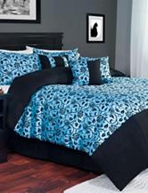 Lavish Home 7-pc. Victoria Damask Comforter Set