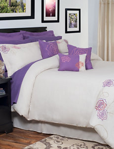 Lavish Home Mia Oversized Embroidered Comforter Set