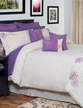 Lavish Home Mia Oversized Embroidered Comforter Set
