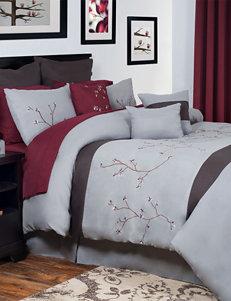 Lavish Home Grace Oversized Embroidered Comforter Set
