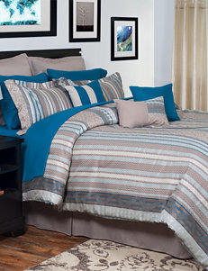 Lavish Home Riley Oversized Embroidered Comforter Set