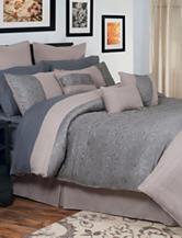 Lavish Home Leah Oversized Embroidered Comforter Set