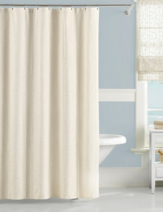Lamont Home Ivory Shower Curtains & Hooks