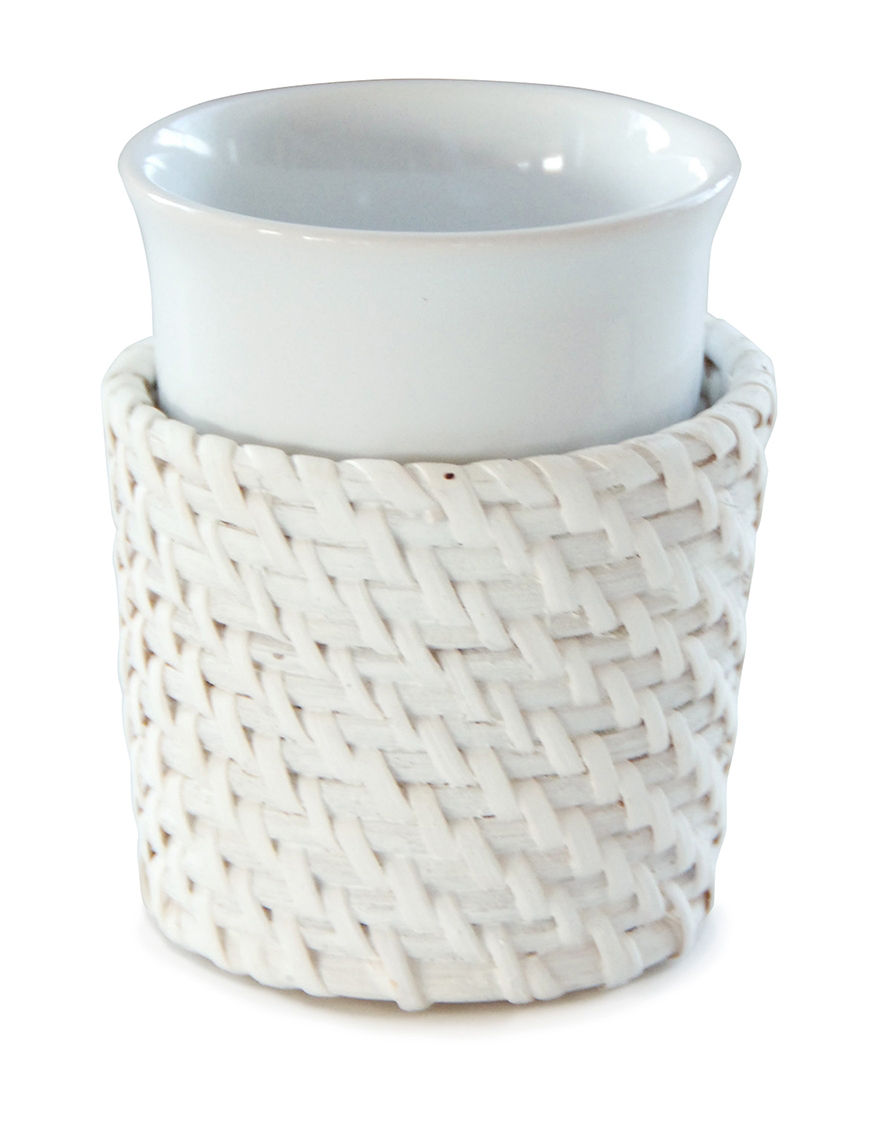 Lamont Home White Tumblers Bath Accessories