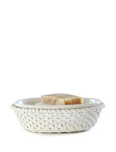 Lamont Home White Soap Dishes Bath Accessories