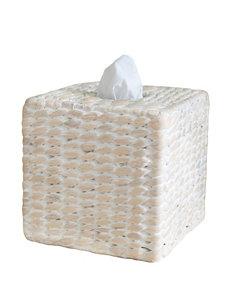 Lamont Home White Tissue Box Covers Bath Accessories