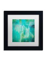 Trademark Fine Art Aqua Circumstance Framed Art